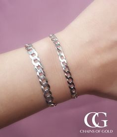"Precious Metal Without Stones Useful Womens 925 Sterling Silver Curb Id 7"" Bracelet Fine Bracelets"