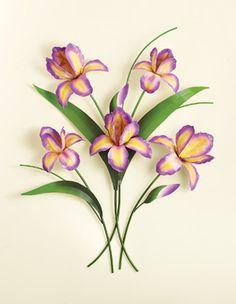 Metal Iris Flower Wall Art