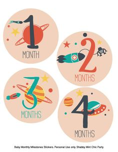Baby Belly Stickers. Monthly Milestone stickers. Outer Space stickers.Baby shower gift. New Baby.12 stickers.INSTANT DOWNLOAD. - pinned by pin4etsy.com