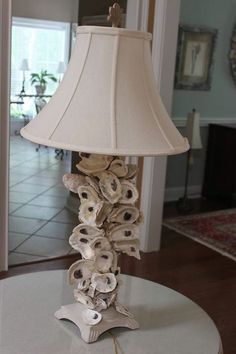 Oyster shell lamp base | accessories | Pinterest | Shell lamp ...