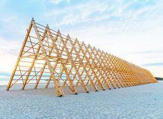 Rintala Eggertsson Architects' Spectacular Wood Pavilion Stretches Across a Norwegian Beach | Inhabitat - Sustainable Design Innovation, Eco Architecture, Green Building