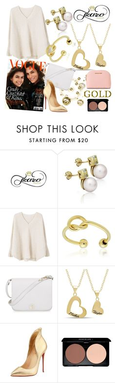 """""""Tzaro Jewelry"""" by gaby-mil ❤ liked on Polyvore featuring MANGO, Gerber, Furla, Christian Louboutin, MICHAEL Michael Kors, jewelry and tzarojewelry"""