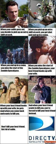 the walking dead funny direct tv commercial Funny Picture