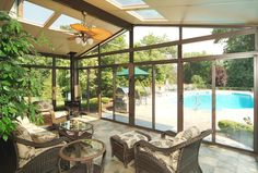 Pool side! enclosed patio ideas | Traditional Patio by Patio Enclosures by Great Day Improvements