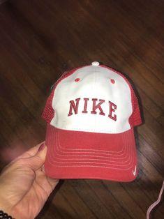 e68c60521e081 Vtg Unisex  02 Nike Mesh Back Trucker Cap hat Snapback NWT One Size