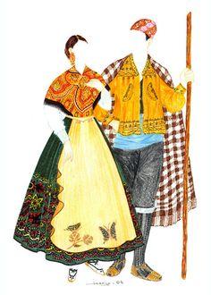Trajes tradicionales de la Codoñera, Teruel, Aragón