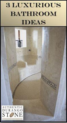 Enter a world of elegance where master bathrooms are equal to royal throne rooms. http://durangostone.com/luxury-master-bathroom-design/