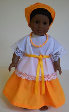 """Fits 18"""" American Girl doll Brazil Brazilian dress clothes F (COSTUME ONLY). Please visit my store at stores.ebay.com/Nanis-Niche"""