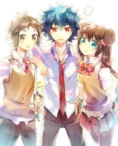 This is cute :3 Kyouhei, Hyuu, and Mei
