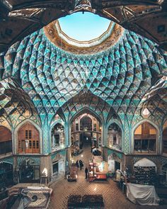 Location: Iran 🇮🇷 It's amazing how architecture In different countries varies! Travel, Travel, Buy Real Estate from me, Travel, Travel 🧳! Parametric Architecture, Islamic Architecture, Light Architecture, Amazing Architecture, Architecture Design, Building Architecture, Decor Interior Design, Interior Decorating, Iran Travel