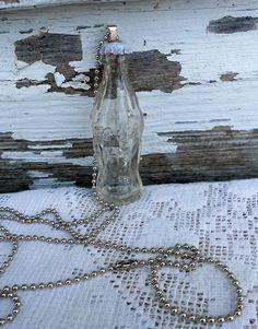 Vintage Miniature Glass Coke Bottle necklace I made from a vintage glass coke bottle.