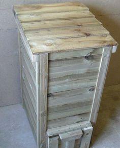 Wooden Coal Bunker / Tall Coal Bunker - Hand Made