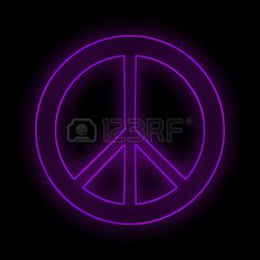 Peace sign symbol purple. Stock Photo - 37545865