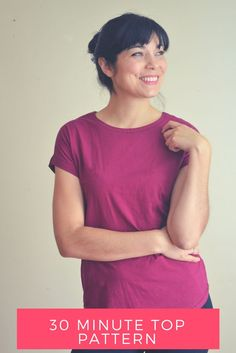 Tutorial Tuesday :: 30 Minute Top with FREE Sewing Pattern from On The Cutting Floor