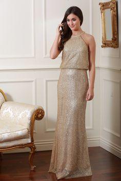 Danielle Gold Glitter Maxi Dress