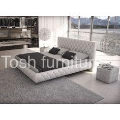 Contemporary White Platform Bed