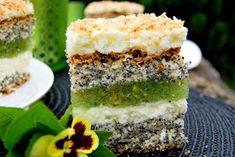 2 punkty widzenia: ORZEŹWIAJĄCY PIEGUSEK z masą kokosowo-cytrynową i dżemem z kiwi i agrestu... zestawienie idealne ;) Kiwi, Vanilla Cake, Tiramisu, Ethnic Recipes, Blog, Cake Ideas, Food Food, Blogging, Tiramisu Cake
