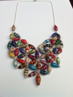 Paper Bib Necklace