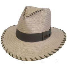 Hatch Stitched Toyo Paper Safari Fedora Hat