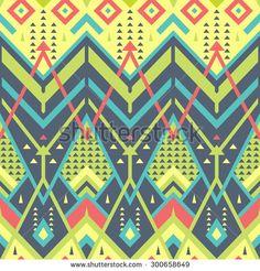 Colorful Seamless Chevron Pattern for Textile Design
