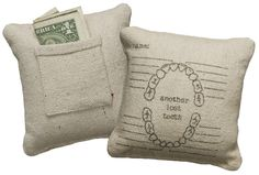 Tooth fairy pillow. Keep track of you little ones missing teeth.