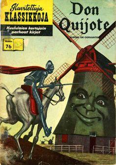 Don Quixote HRN 110 - First Classics Illustrated Logo -New Art Gilberton Comic Book Classic Comics/Classics Illustrated 11 E Vintage Comic Books, Vintage Magazines, Vintage Comics, Comic Books Art, Comic Art, Book Art, Creepy Comics, Horror Comics, Book Covers