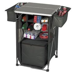 Details about Portable Tailgating Tavern Camping Camp Kitchen Cooler ...
