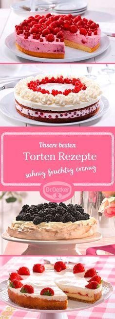 Ob zum lustigen Kaffeeklatsch mit Freunden oder zur geselligen Familienfeier, wenn Sie raffinierte Torten selber machen wollen, lassen Sie sich von den Torten-Rezepten von Dr. Oetker inspirieren!