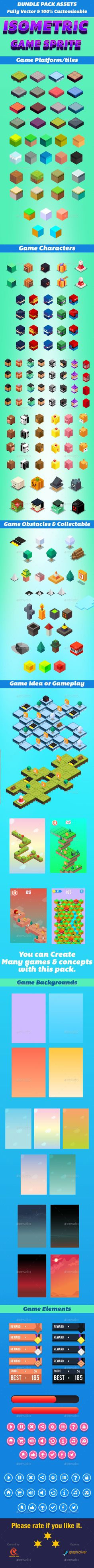 Isometric Game Bundle - User Interfaces Game Assets