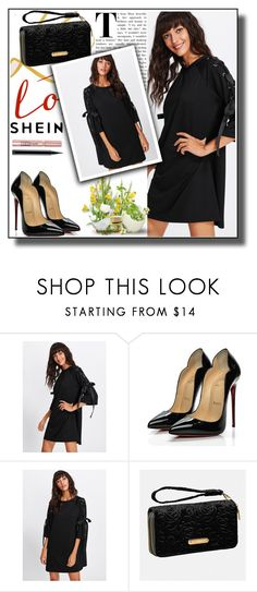 """""""shein"""" by arminalevic ❤ liked on Polyvore featuring Christian Louboutin, Avenue, L'Oréal Paris and MAC Cosmetics"""