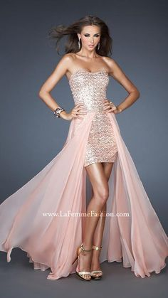 { 18872 | La Femme Fashion 2013 } La Femme Prom Dresses - Detachable Skirt - 2 in 1 Dress - Sequins