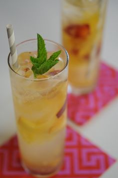 mmmm...peach collins - for the recipe go to: http://www.myrecipes.com ...