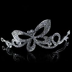 Alloy Wedding Hair Crown with Crystal Dragonfly: USD $11.09