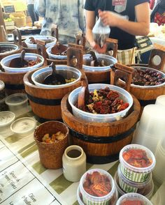 Farmers Market Saturday's  Good ol' buckets of delicious olives and sundried tomatoes YUM! #sugarfree #grainfree #banting #lowcarb #lchf #keto #ketogenic #capetown #ozcf #foodiesofcapetown #nutterforalmondbutter #clean #cleaneating #healthyeating #clean #pure #health #olives #farmersmarket #iqs #iquitsugar by nutterforalmondbutter