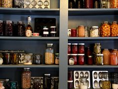 I will one day have a pantry this hand-made and amazing.    From Posie Gets Cozy blog.