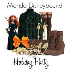 """""""Merida Disneybound"""" by capamericagirl21 ❤ liked on Polyvore featuring Chicwish, Merida, kim white, A.V. Max, Ippolita and Andre Assous"""