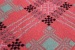 Maeslyn Mill tapestry in Coral Pink & Mint TBV55 - Early tapestry bedcovers Antique & Collectable