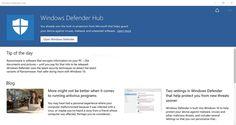 Microsoft ha rilasciato Windows Defender Hub App ed è ora disponibile per il download gratuito dal Windows Store. L'applicazione non è niente di speciale, fondamentalmente permette solo di aprire l'interfaccia di Windows Defender e visualizza alcuni suggerimenti, notizie e link…