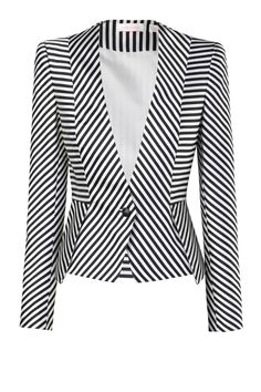 I want to design drapery inspired by this well tailored stripe jacket! sass & bide | GREAT EXPECTATIONS - black & white | jackets | sass & bide