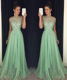 A-Line Charming Prom Dresses,Long Evening Dresses,Beading Prom Dresses On Sale