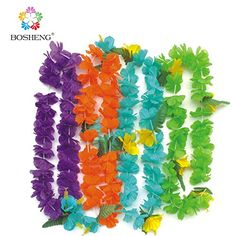 BOSHENG Colorful Luau Plastic Flower Leis Necklaces for Tropical Island Beach Theme Party Event, Birthday Supplies, Costume,Set of 4 BOSHENG http://www.amazon.com/dp/B01E52Y2CK/ref=cm_sw_r_pi_dp_uQzdxb1AFGWPH