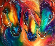 """Color my World with Horses"" par Marcia Baldwin"