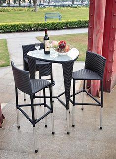 super snazzy bar height patio furniture set alexandria balcony set high quality patio furniture