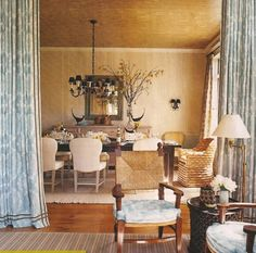 Portieres, rugs