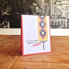 """Friendship Card. Cardstock: SU; stamps: Altenew (""""Modern Beadwork""""); ink: SU."""