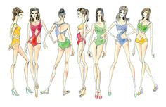 Fashion Sketches Swimsuits