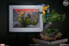 """Sideshow Collectibles a new limited-edition variant art print by Paolo Rivera based on the classic clash between two Marvel Comics titans. The Hulk and Wolverine: First Appearance Variant Premium Art Print recalls the time the two characters did battle in 1974's """"Incredible Hulk"""" #181."""