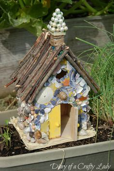 Image detail for -fairy houses: a fun summer project minitiature houses дом Crafts For Kids To Make, Diy And Crafts, Toad House, House 2, Fairy Garden Houses, Fairy Gardening, Container Gardening, Fairy Crafts, Miniature Fairy Gardens