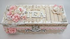 If you love your tea, you certainly need to buy this cute little box to hold all your favorites.❤✿✦✿❤