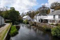 View from the Bridge Over the River Sorn Isle of Islay Scotland